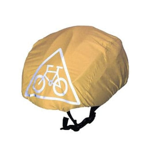 Beige waterproof cycling helmet cover (universal size)