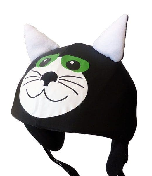 Black cat helmet cover (universal size)