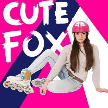 cute fox evercover helmet cover
