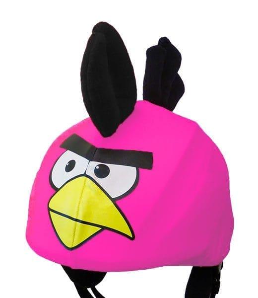 Funky pink bird helmet cover (universal size)