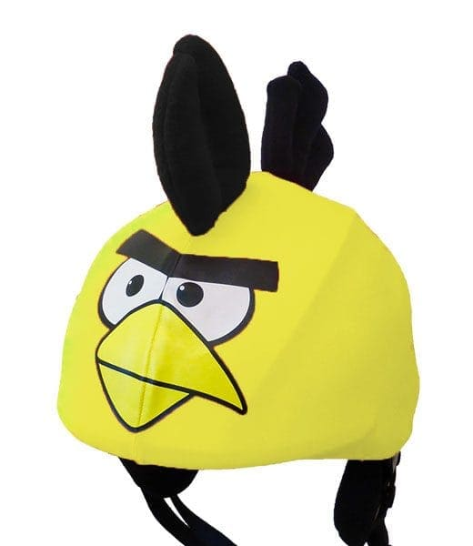 Funky yellow bird helmet cover (universal size)