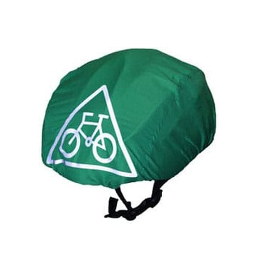 Turquoise waterproof cycling helmet cover (universal size) 1