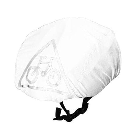 White waterproof cycling helmet cover (universal size)