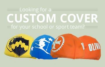 Four custom helmet cover (yellow, blue and orange colours)