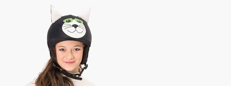 black kat child helmet cover girl