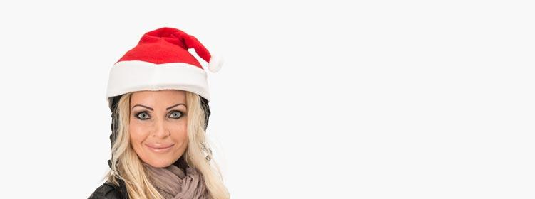santa claus christmas helmet cover woman