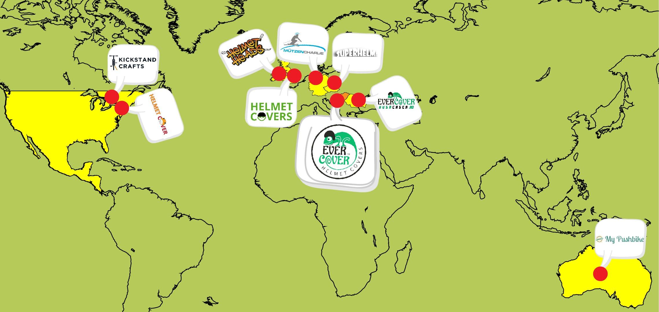 Evercover Helmet Cover map