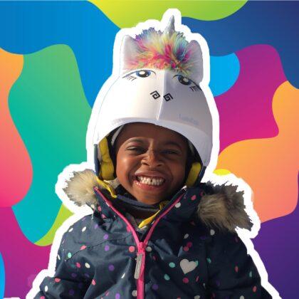 rainbow unicorn helmet cover