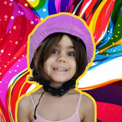 pink mermaid helmet cover