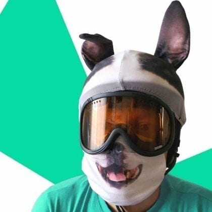 dog face mask and helmet cover